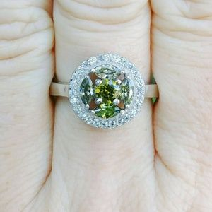 18kt Gold Plated Sterling Silver Peridot Ring